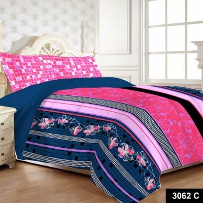 MYCK Cotton Floral Queen sized Double Bedsheet
