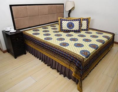 Bohomandala Cotton Printed Double Bedsheet