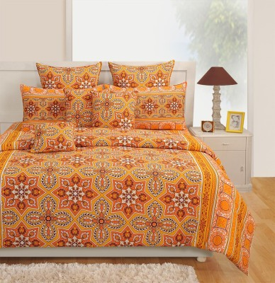 Swayam Cotton Abstract Queen sized Double Bedsheet