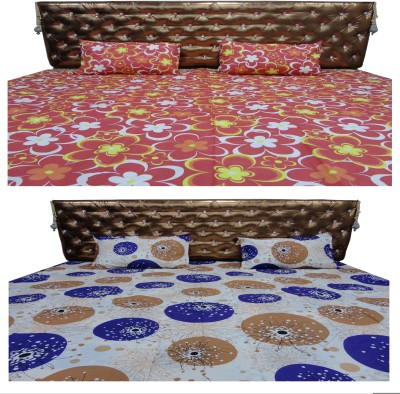 Bedsheet Zone Cotton Geometric Double Bedsheet