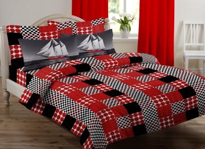 Royal Home Cotton Geometric King sized Double Bedsheet