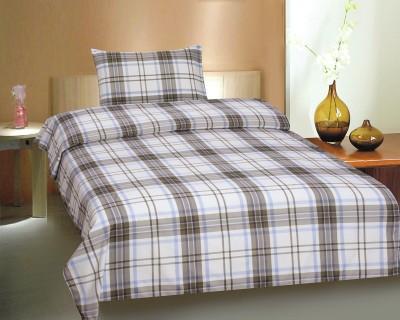 Ctm Textile Mills Cotton Checkered Single Bedsheet
