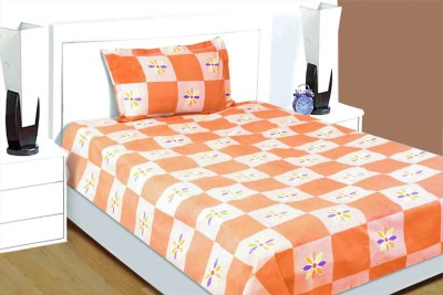 Idrape Cotton Floral Single Bedsheet