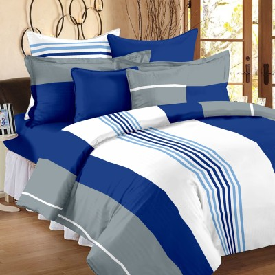 Ahmedabad Cotton Cotton Striped Single Bedsheet