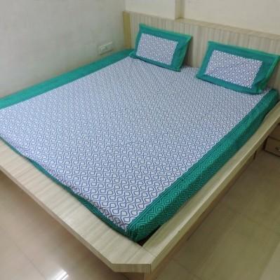 Bigshoponline Cotton Geometric Double Bedsheet