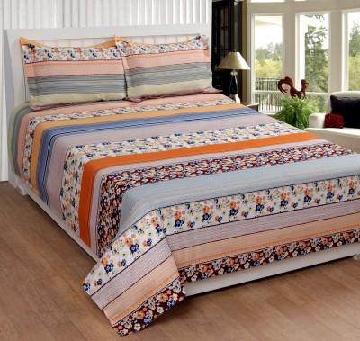 Shivalik Polycotton Floral King sized Double Bedsheet
