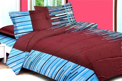 Aalidhra Techtex Cotton Abstract King sized Double Bedsheet