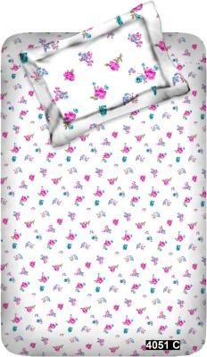 MYCK Cotton Floral Single Bedsheet