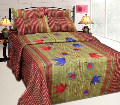 The Intellect Bazaar Cotton Floral King sized Double Bedsheet