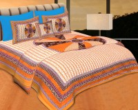 JaipurFabric Cotton Printed Double Bedsheet(Quantity: Set of 3 Pieces (1 Double Bed Sheet + 2 Pillow Covers), Multicolor) best price on Flipkart @ Rs. 949