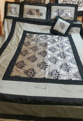 Diti Impex Velvet, Silk Embroidered Double Bedsheet