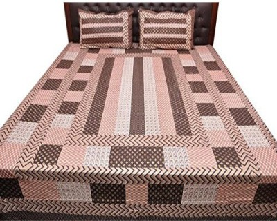 Kalaplanet Cotton Geometric Double Bedsheet