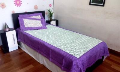 JR Print Cotton Geometric Single Bedsheet