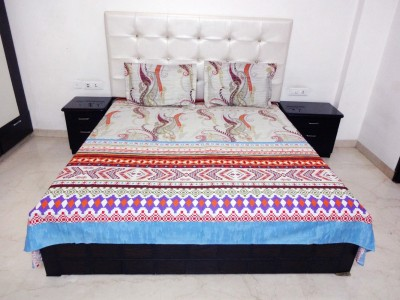 K Gallery Cotton Geometric Double Bedsheet