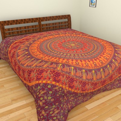 Narsinh Cotton Printed Double Bedsheet