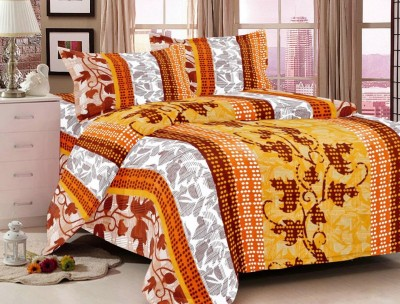 Fresh From Loom Cotton Floral Double Bedsheet