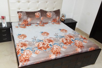 K Gallery Polycotton Floral King sized Double Bedsheet