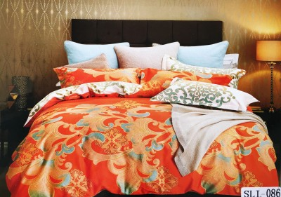 Mk Retail Cotton Printed King sized Double Bedsheet