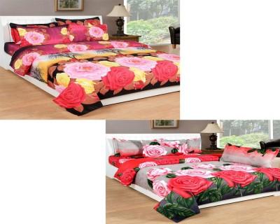 Sunlite Enterprises Polycotton 3D Printed King sized Double Bedsheet