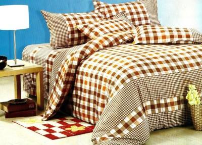 JORDEN Cotton Geometric Double Bedsheet
