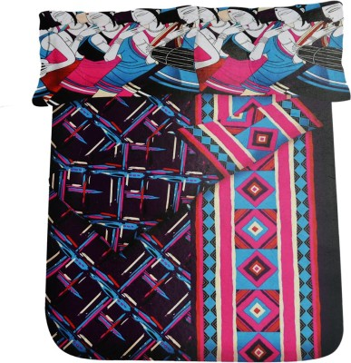 Beamount Cotton Printed Queen sized Double Bedsheet