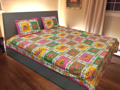 tathyaa creations Cotton Animal Double Bedsheet