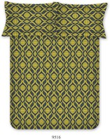 Bombay Dyeing Polycotton Geometric Double Bedsheet(1 Bed Sheets, Two Pillow Covers, Mustard)