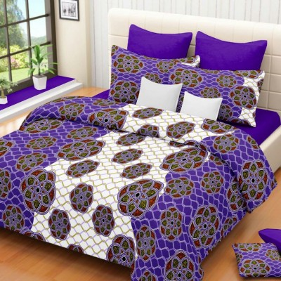 Mosaic Cotton Printed Double Bedsheet