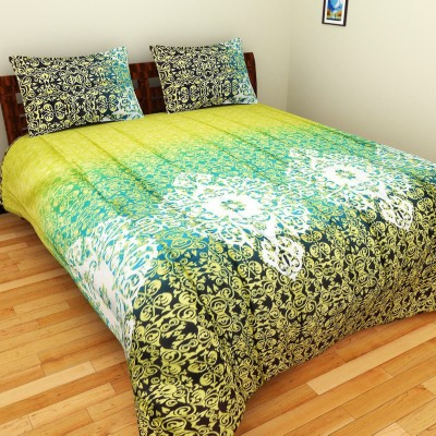 Bichauna Odele by Creative Portico Cotton Linen Blend Abstract King sized Double Bedsheet