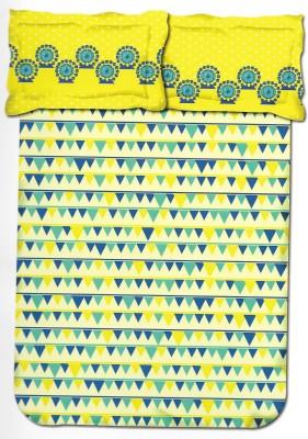 Kal Polycotton Self Design Double Bedsheet