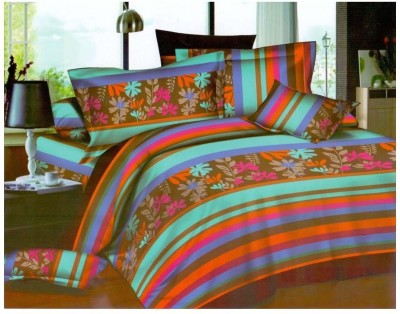 Goodkarma Polyester Floral Double Bedsheet