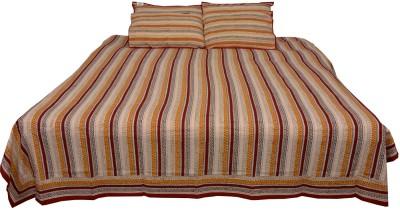 Chhipa Prints Cotton Striped Single Bedsheet