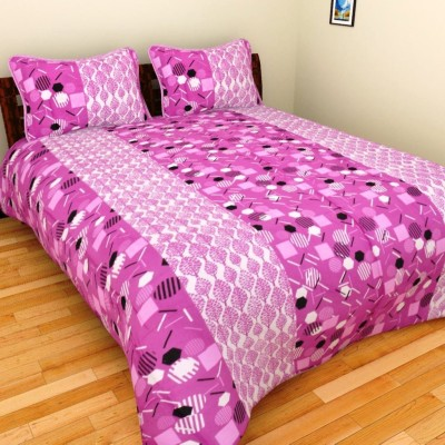 AZ Cotton Printed Double Bedsheet