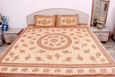 Pms Fashions Cotton Animal Double Bedsheet