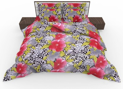 The White Moss Cotton Floral Double Bedsheet