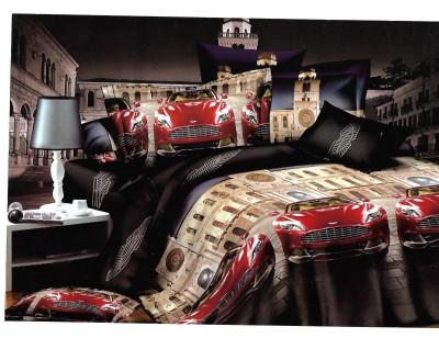Sudesh Handloom Cotton 3D Printed Queen sized Double Bedsheet