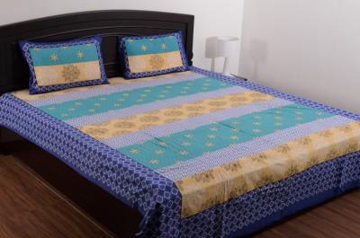 Vivid Rajasthan Cotton Floral Double Bedsheet