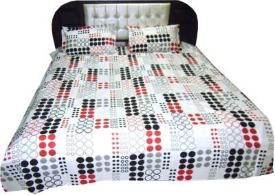 Satcap Cotton Polka Double Bedsheet