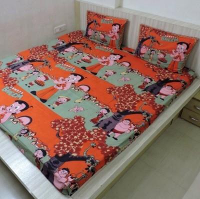 Bigshoponline Cotton Cartoon Double Bedsheet