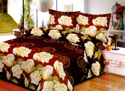Aarco Polycotton Floral Double Bedsheet(1 Bedsheet, 2 Pillow Covers, Multicolor) at flipkart