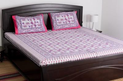 Vivid Rajasthan Cotton Abstract Single Bedsheet