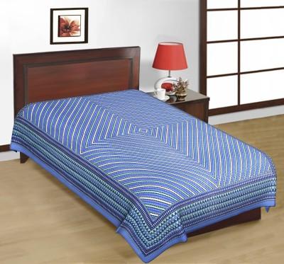 Cotton Striped Single Bedsheet