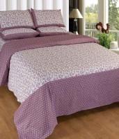 Divine Cotton Floral Double Bedsheet(1 Bedsheet, 2 Pillow Cover, Multicolor)