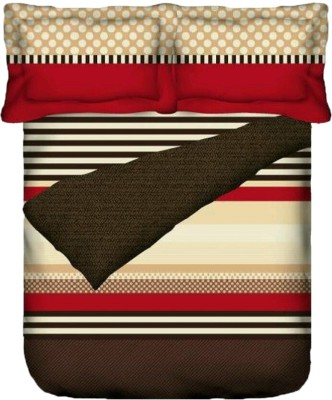 Bichauna by Portico Cotton Polka King sized Double Bedsheet