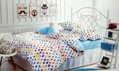 Spade Polyester Printed Double Bedsheet