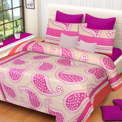 Home Elite Cotton Paisley Double Bedsheet