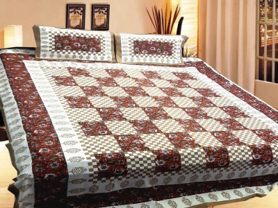 Rajasthali Cotton Geometric Double Bedsheet