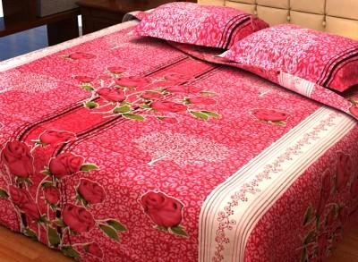 Factorywala Cotton Floral Double Bedsheet