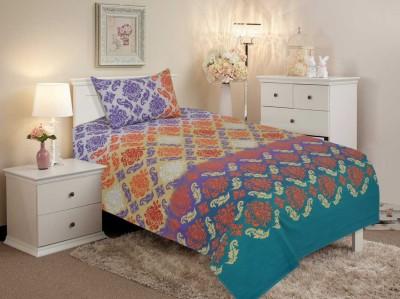 Salona Bichona Cotton Paisley Single Bedsheet