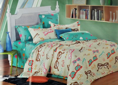 Silver Thread Polycotton Abstract Double Bedsheet